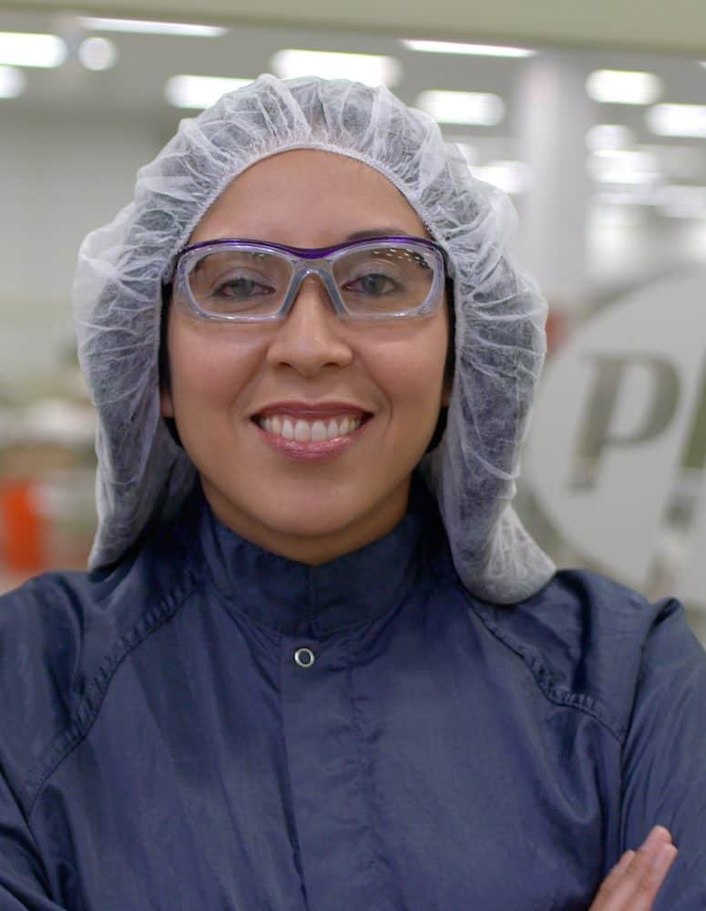Image of a Woman in a Manufacturing plant